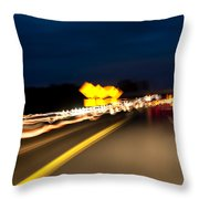 Road At Night 1 Throw Pillow