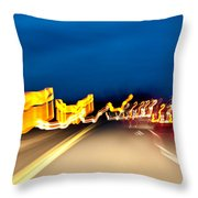 Road At Night 2 Throw Pillow