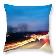 Road At Night 3 Throw Pillow