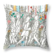 Road Crossing. 6 February, 2015 Throw Pillow