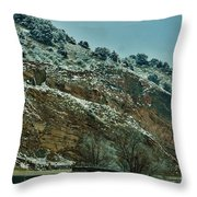 Road Cut Throw Pillow