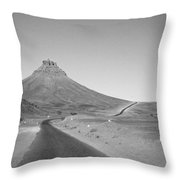 Road In Morocco Desert Throw Pillow