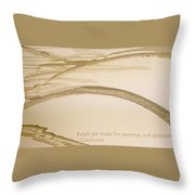 Road Is A Journey Throw Pillow