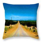 Road Throw Pillow