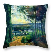 Road Leading To The Lake, By Paul Cezanne, Circa 1880, Kroller-m Throw Pillow