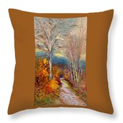 Road Line - Tuscany Throw Pillow