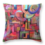Road Map Throw Pillow