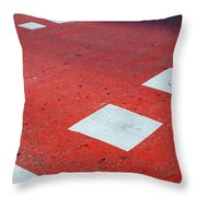 Road Markings Throw Pillow
