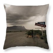 Road Of Yesteryear Throw Pillow