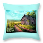 Road On The Farm Haroldsville L A Throw Pillow