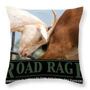 Road Rage Throw Pillow