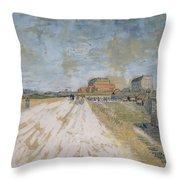 Road Running Beside The Paris Ramparts Paris, June - September 1887 Vincent Van Gogh 1853  1890 Throw Pillow