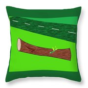 Road Side Throw Pillow