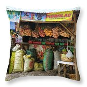 Road Side Store Philippines Throw Pillow