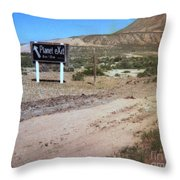Road Sign To The Sky Throw Pillow