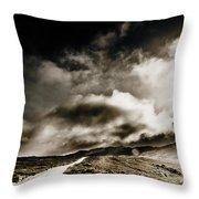 Road Storm Throw Pillow