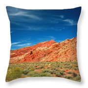 Road To Arches National Park Throw Pillow