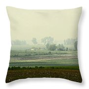 Road To Baggend Throw Pillow