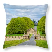 Road To Burghley House-vertical Throw Pillow