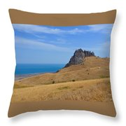 Road To Crag Throw Pillow