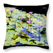 Road To Hana Water Lilies Throw Pillow