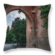 Road To Il Giardino Throw Pillow