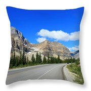 Road To Jasper Throw Pillow