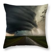 Road To Mesocyclone Throw Pillow