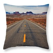 Road To Monument Valley Throw Pillow