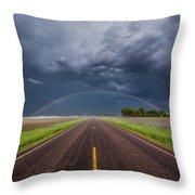 Road To Nowhere - Rainbow Throw Pillow