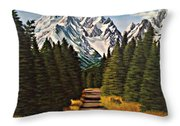 Road To Olympus Throw Pillow