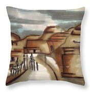 Road To Petra Throw Pillow
