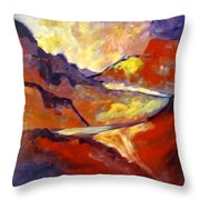 Road To Port William Throw Pillow