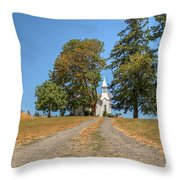 Road To Redemption Throw Pillow