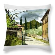 Road To Reggello Throw Pillow