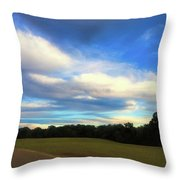 Road To River At Shiloh Throw Pillow
