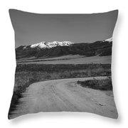 Road To Sangres Throw Pillow