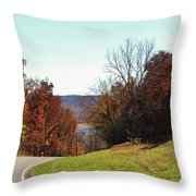 Road To Stonefort Throw Pillow