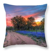 Road To Sunset Throw Pillow