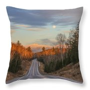 Road To The Moon Throw Pillow