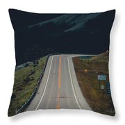Road To The Mountains Throw Pillow