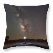 Hitchhike To The Galaxy Panorama Throw Pillow