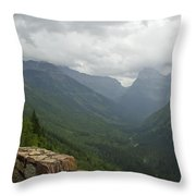 Road-to-the-sun Road Glacier Park Montana Throw Pillow