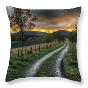 Road To The Sunset Throw Pillow