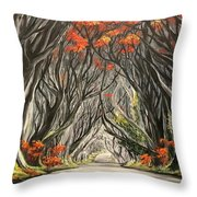 Road To The Throne Throw Pillow