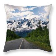Road To Valdez Throw Pillow