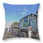 Road Work Machines Hdr Throw Pillow