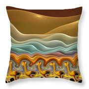 Roadrunner Races Throw Pillow