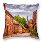 Roads Of Lund Digital Painting Throw Pillow