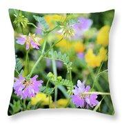 Roadside Bouquet Throw Pillow